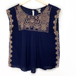 Forever 21 Navy blue blouse